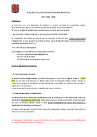 REGLEMENT DE LA RESTAURATION MUNICIPALE saison 2021 2022
